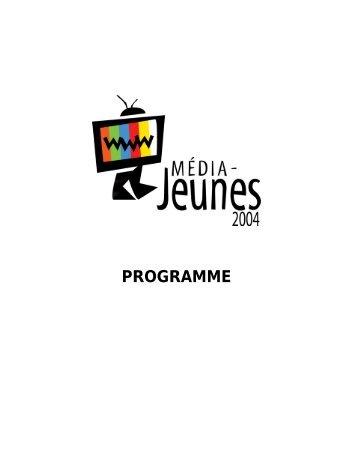 Télécharger le programme - Alliance médias jeunesse