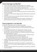 Robô de piso programável adequado para crianças GUIA DO ... - TTS - Page 4