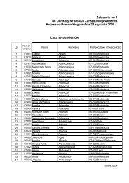 Lista stypendystów - Urząd Marszałkowski Województwa Kujawsko ...