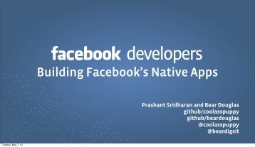 Building Facebook's Native Apps