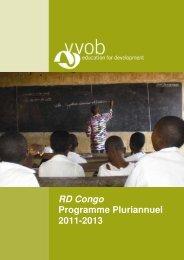 RD Congo Programme Pluriannuel 2011-2013 - VVOB