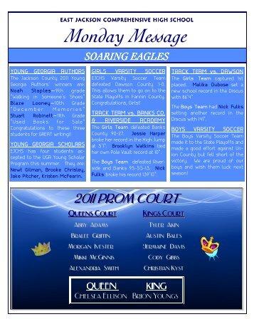 Monday Message - Jackson County Schools