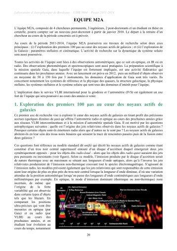 Projet 2011-2014 - Laboratoire d'Astrophysique de Bordeaux