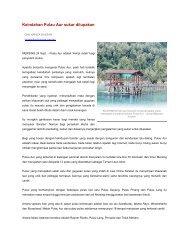 Keindahan Pulau Aur sukar dilupakan - Jabatan Taman Laut Malaysia