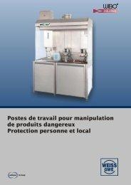 Installations de filtration d'air adaptées à nos postes de travail