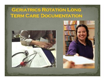Long Term Care Documentation