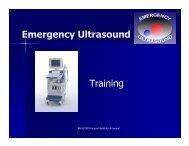 Emergency Ultrasound Training