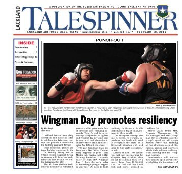 Wingman Day promotes resiliency - San Antonio News