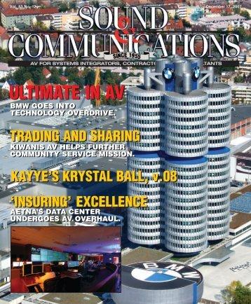 Sound & Communications December 2007 Issue