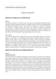 LINGUA E CULTURA LATINA_scientifico, scienze umane
