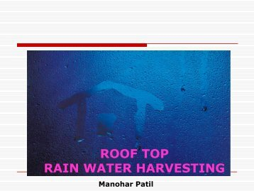 ROOF TOP RAIN WATER HARVESTING - EPCO