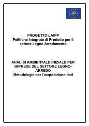 PROGETTO LAIPP Politiche Integrate di Prodotto per il settore ...