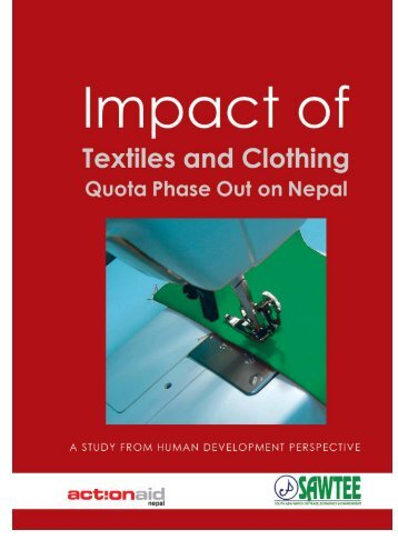 Impact of Textiles and Clothing Quota Phase Out on Nepal