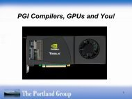 PGI Compilers and Tools