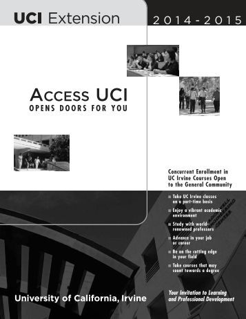 ACCESS UCI - UC Irvine Extension - University of California, Irvine