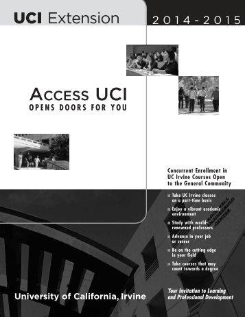 ACCESS UCI - UC Irvine Extension - University of California, Irvine