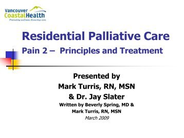 Pain Management Part II - GNABC