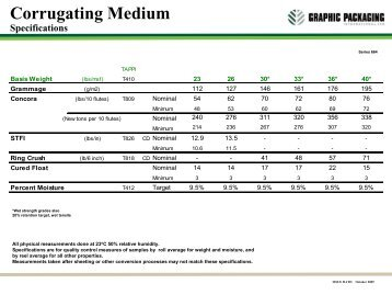 Corrugating Medium Specifications - Graphic Packaging