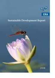 2008 Sustainable Development Report - Energy Resources of ...