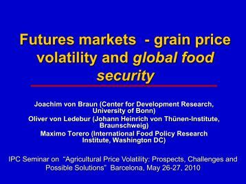 Grain futures trading system