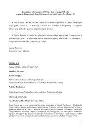 Komunikat informacyjny KPWiG z dnia 11 maja 2005 roku w sprawie ...