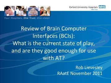 Review of Brain Computer Interfaces (BCI's)