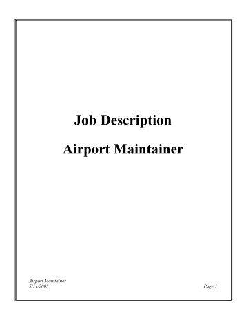 Job Description Heavy Equipment Operator