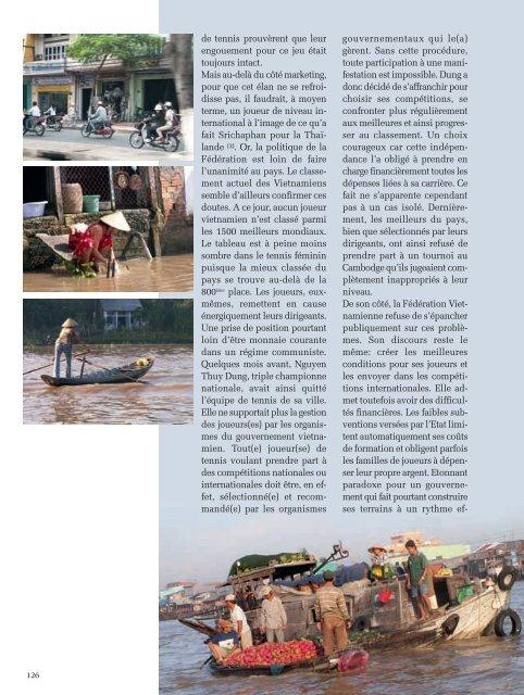 Le Tennis au Vietnam - Magazine Sports et Loisirs