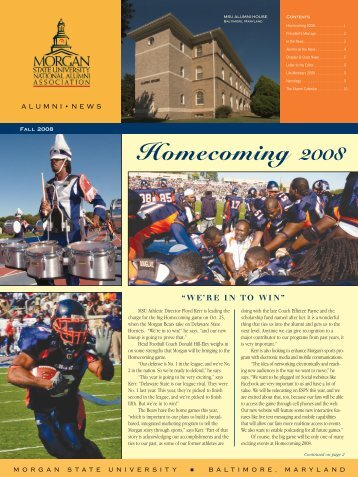Homecoming 2008 - MSUNAA - Home Page - Morgan State University