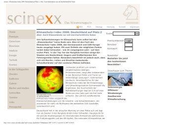 scinexx   Klimaschutz-Index 2008: Deutschland auf Platz 2: Aber ...