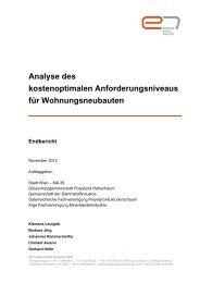 Endbericht der Studie - e7 - Energie Markt Analyse