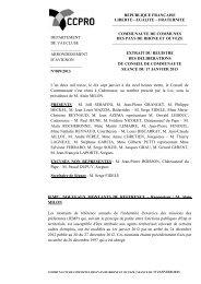 IEMP : NOUVEAUX MONTANTS DE REFERENCE ... - CCPRO