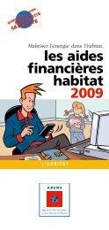 le guide Les aides financières habitat 2009 - Ademe