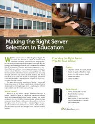 Making the Right Server Selection in Education - Navigator