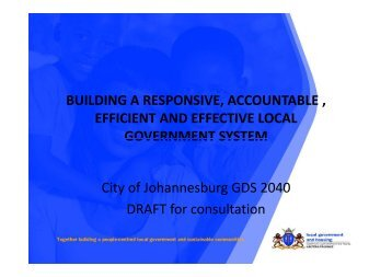 Building a responsive, accountable, efficient and effective ... - Joburg