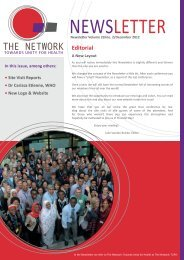 Editorial - The network - Towards Unity For Health