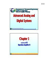 Advanced Analog and Digital Systems Chapter 3
