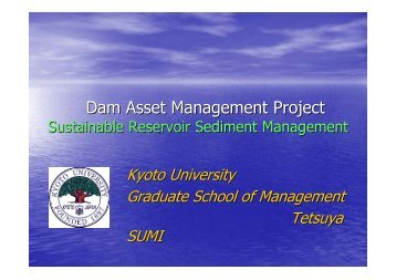 Dam Asset Management Project - INBO