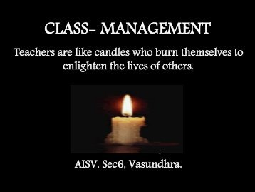CLASS- MANAGEMENT - School of Educators