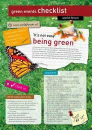 Green Events checklist - World Forum