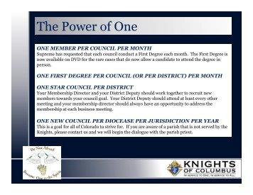 2013 Organizational Meeting Membership Presentation