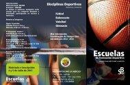 brochure escuelas de formación deportiva - Colegio