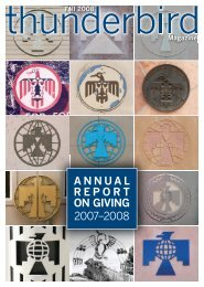 ANNUAL REPORT ON GIVING 2007–2008 - Thunderbird Magazine