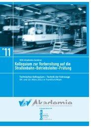 Kolloquium zur Vorbereitung auf die Straßenbahn ... - newstix