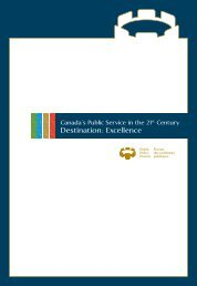 Canada's Public Service in the 21st Century – Destination: Excellence