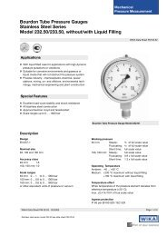 Bourdon Tube Pressure Gauges Stainless Steel Series Model ...