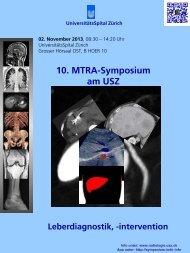 10. MTRA-Symposium am USZ - Radiologie - UniversitätsSpital Zürich