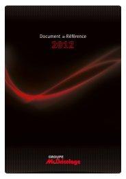 Document de référence 2012 - Groupe Mr.Bricolage