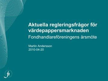 Rubrik 34 pt Arial bold - Finansinspektionen