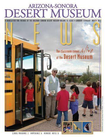 January-February-March 2013 - Arizona-Sonora Desert Museum